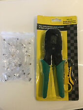 RJ45 Networking Crimping Tool + 45+ RJ45 Connecters