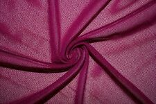 Magenta Power Mesh 4 Way Stretch Nylon Lycra Spandex Dance Swimwear Fabric BTY
