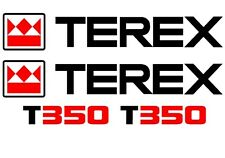 Terex T350 decals stickers set