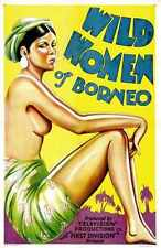 Wild Women Of Borneo Poster 01 Metal Sign A4 12x8 Aluminium