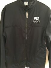 USA OLYMPIC JACKET L Full Zip Coat United States Olympic Committee Embroidered