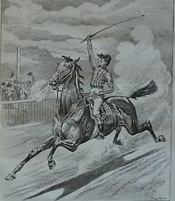 NY Daily Graphic. The Victor-A Scene on the Race Course. 1876.