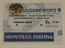 old RARE ticket EC Lausanne Sports Switzerland Suisse UE Sant Julia Andorra
