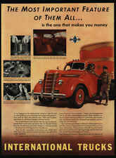 1939 INTERNATIONAL HARVESTER Red Delivery Truck - VINTAGE AD