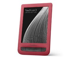 "Pocketbook Touch Lux 3 P626-2R Red 6"" E-ink Pearl E-Book Reader WiFi B/G/N 4GB"