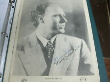 MOON MULLICAN VINTAGE SIGNED PHOTO BOOKLET 8 X 10 RARE