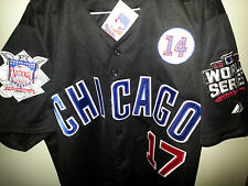 Brand New! Chicago Cubs #17 Kris Bryant majestic Black 3patches Jersey mens MED