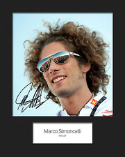 MARCO SIMONCELLI #1 Signed 10x8 Mounted Photo Print - FREE DELIVERY