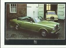 ROLLS ROYCE CORNICHE SALOON AND CONVERTIBLE 1978 SALES 'BROCHURE'/SHEET