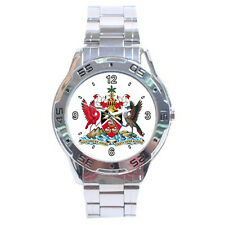New Coat of arms of Trinidad and Tobago Stainless Steel Analogue Mens Watch