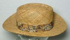Vtg Stetson Straw Golfer Beach Fishing Outdoor Sports Everyday Sun Hat / Small