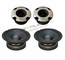 "XPL KIT - 2x TWEETER bullet XTW2501 2x WOOFER XW06-02 165mm 6,5"" 400W  SPL Auto"