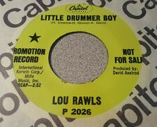 Lou Rawls – Little Drummer Boy / A Child With A Toy ~ Promo ~ (M-)