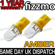2x LED AMBER ORANGE INDICATOR SIGNAL TURNING SIDE LIGHT BULB T10 W5W 501 1YR WAR