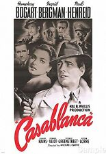 Humphrey Bogart Casablanca 1942 Cinema Movie Film Poster Print Picture A4