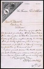 1883 S W Rosenstock & C0 Eureka Boots  Giant Shoes  - San Francisco Letter Head