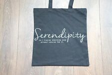 Premium Cotton Canvas Shopping Shoulder Tote Shopper Bags Black - Serendipity