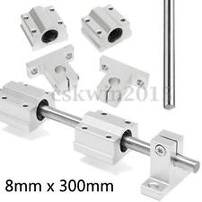 8mm x 300mm CNC Linear Rail Shaft + Supports + SC8UU Linear Motion Bearing Slide