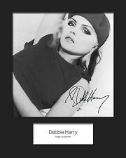 DEBBIE HARRY (Blondie) #2 10x8 SIGNED Mounted Photo Print - FREE DELIVERY