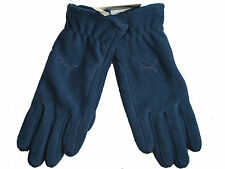 Puma denim blue unisex fundamentals warm fleece polyester gloves Size M/L