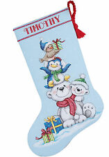Cross Stitch Kit ~ Dimensions Stack of Critters Christmas Stocking #70-08840