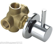 Twyford Sola SF1024CP 2 way shower divertor valve in chrome. Diverter valve