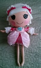 LALALOOPSY Full Size Suzette La Sweet Doll! White hair pink bows pink checkered