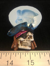 SKULL PIRATE SILICONE MOLD #203 CANDLE,SOAP,RESIN, CHOLOCATE, FAVORS, HALLOWEEN