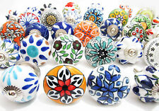 30 Mix Ceramic Door Knobs Kitchen Bedroom Furniture Cupboard Cabinet Pull Handle