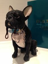 Sitting Black French Bulldog Ornament Dog Figurine Gift Present