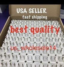 Lot 100 X Wall Charger Plug USB AC Power Adapter Wholesale For IPhone 6 5 6s 5s