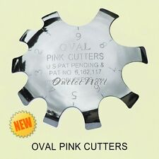 Q-FRENCH PINK CUTTERS OVAL Shape - Pink & White Acrylic Gel Nails Cut Tool 1 - 9