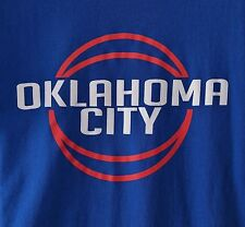 NBA OKC THUNDER Ball XL Oklahoma City Durant Westbrook Rumble Playoff Blue Shirt