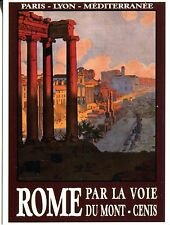 POST CARD OF AN OLD TRAVEL POSTER FOR ROME WRITTEN IN ITALIAN VERY RETRO