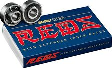 Bones Race Reds Built In Spacers Longboard Skateboard Bearings Skate