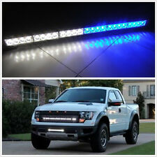 24 LED blue/white Emergency Advisor Strobe Beacon Safety Warning Light Bar for F