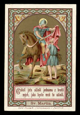 antico santino cromo-holy card S.MARTINO DI TOURS poellath
