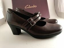 New Clarks Bendables Dream Honor Brown Leather Shooties Ladies Shoes 7.5 Wid