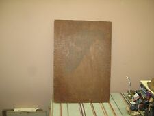 """Antique Flemish Art Carved Wood Plaque Pyrography Picture 14"""" x 20"""" Wood Burning"""