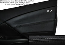BLACK STITCH 2X FRONT DOOR CARD TRIM SKIN COVER FITS HONDA CIVIC SE SE-T EX 12+