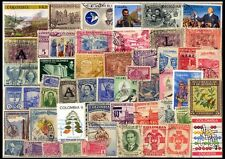 COLOMBIA 50 All Different Large & Small, Mostly Old, Thematic Issues, Used Stamp