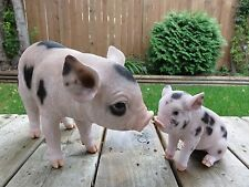 Pig Figurines  Resin Yard Ornament Statues Spotted New Home Decor Farm Animals