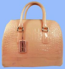 FURLA BABY CANDY Magnolia Pink Croco RUBBER Satchel Bag Msrp $298 *FREE SHIPPING