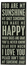 """ You Are My Sunshine... "" Wood Box Sign Primitives By Kathy Home Decor."