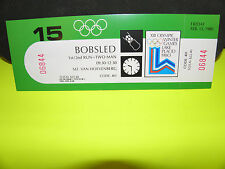 1980 WINTER GAMES BOBSLED- TWO-MAN FRI. FEB.15/1980 FULL TICKET