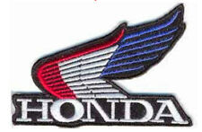 Iron On/ Sew On Embroidered Patch Badge Bike Wing Wings Hon Motorbile Logo