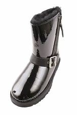 UGG Blaise Womens Black Leather Fashion Boots Size 5