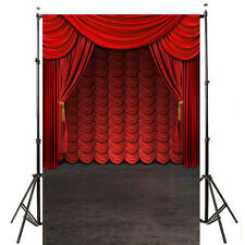 5x7ft Red scene Curtains Photography Backdrop Background Studio Vinyl Props