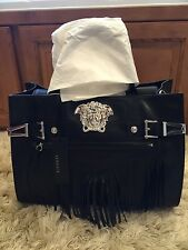 Versace Palazzo fringe leather bag new with tags