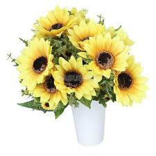 1 Bouquet18 Flower Heads Artificial Simulation Sunflower Plant Decor Home Yellow